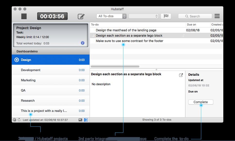 Pivotal Tracker desktop timer