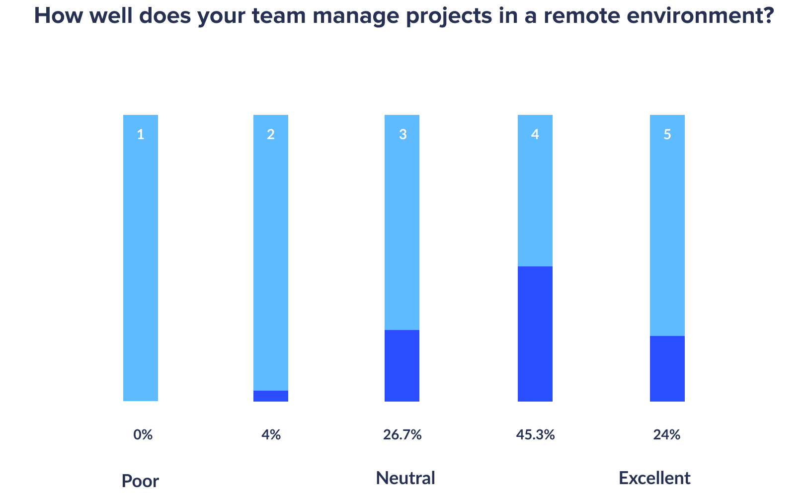 how well teams manage projects remotely