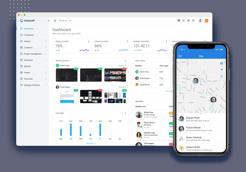 Hubstaff features dashboard