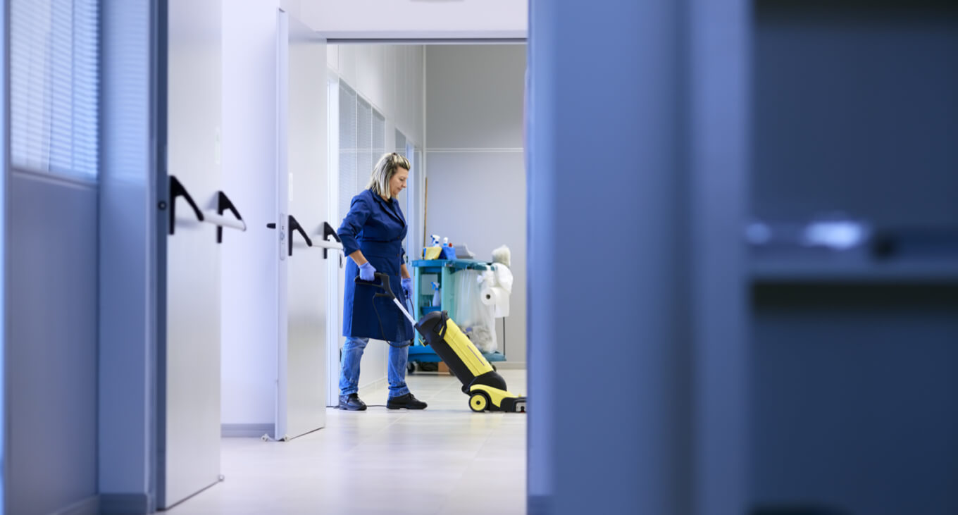 Software for janitorial time tracking
