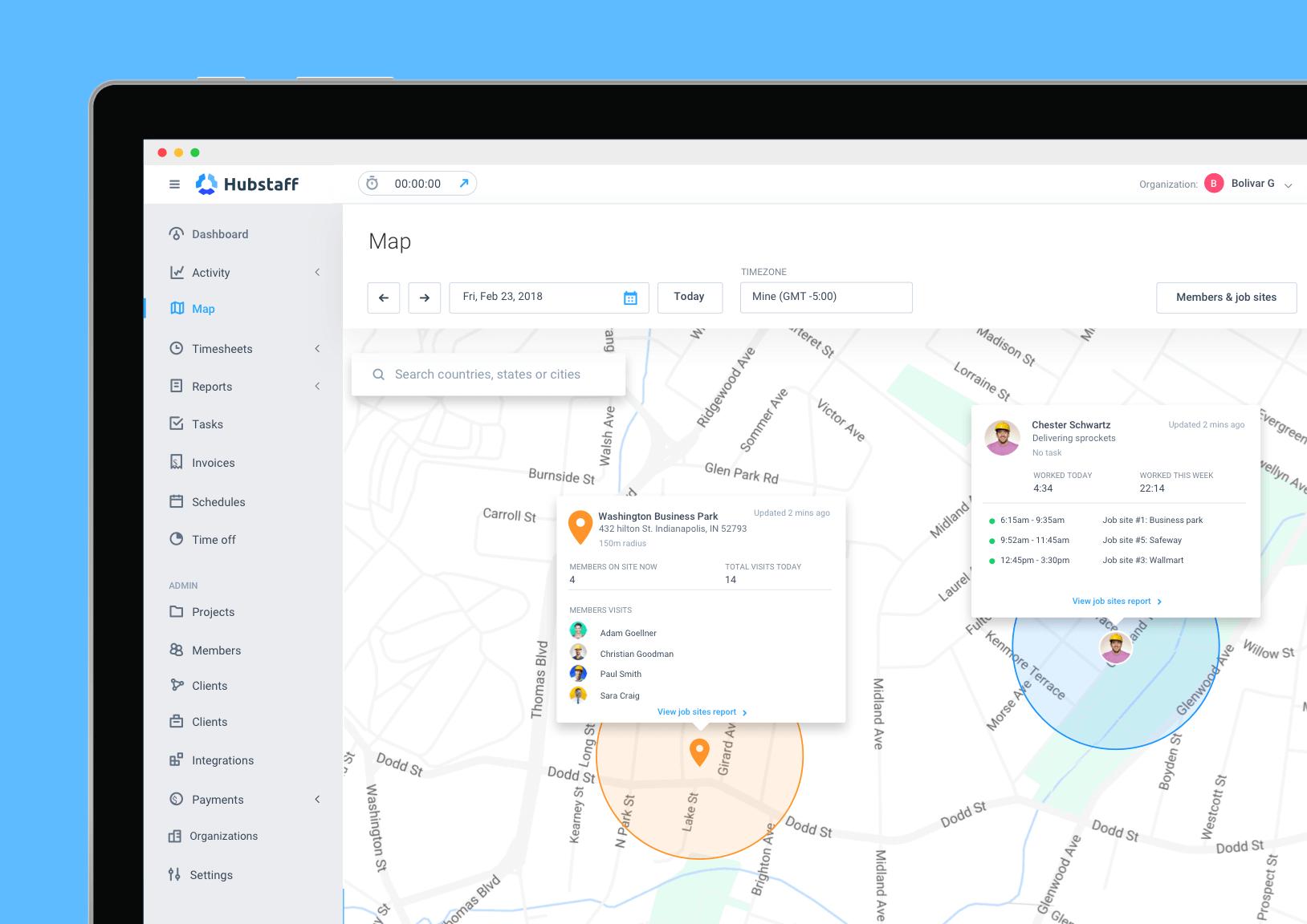 Hubstaff construction app