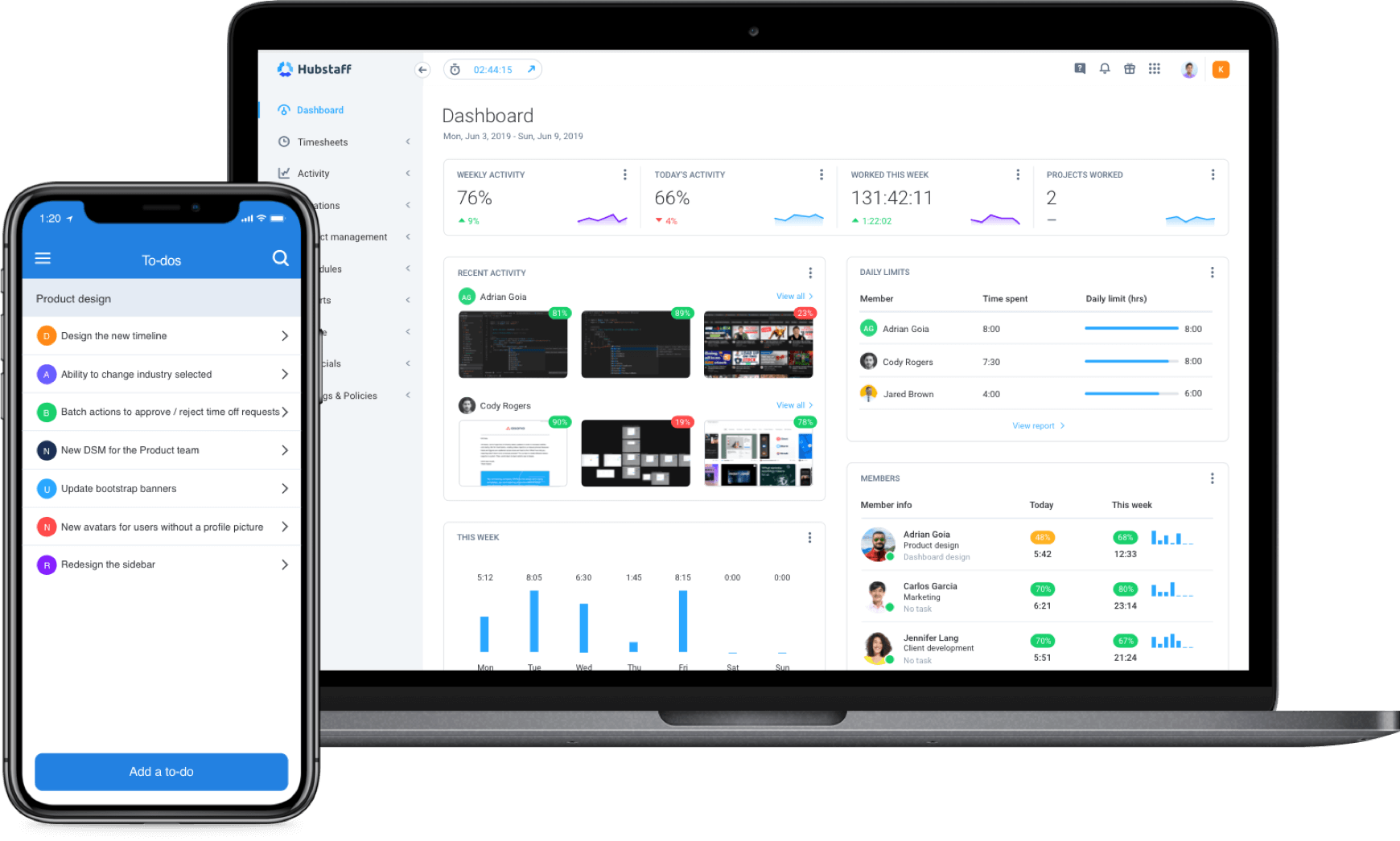 Focus on work and log time automatically with Hubstaff