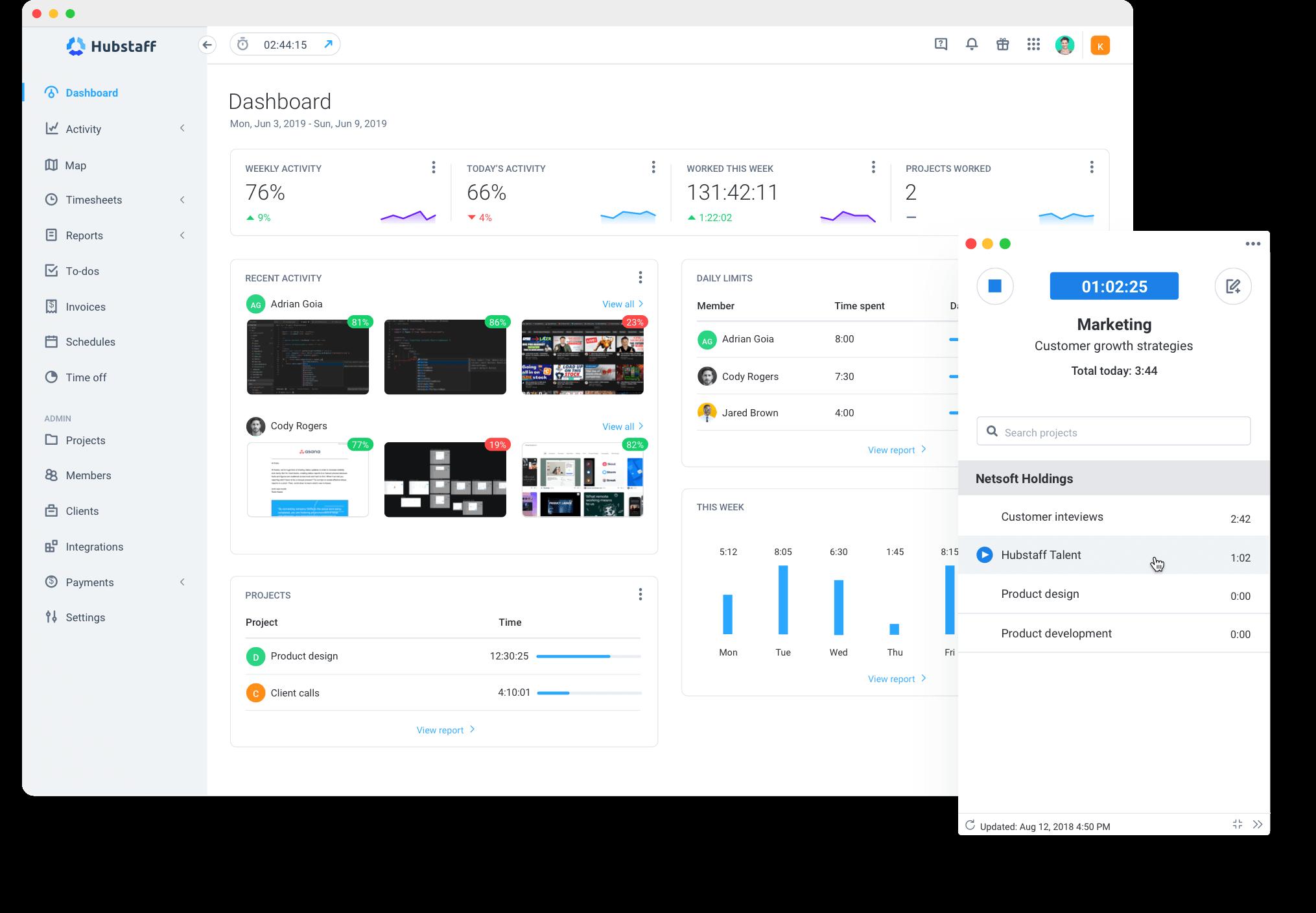 Hubstaff Desk Time Tracking