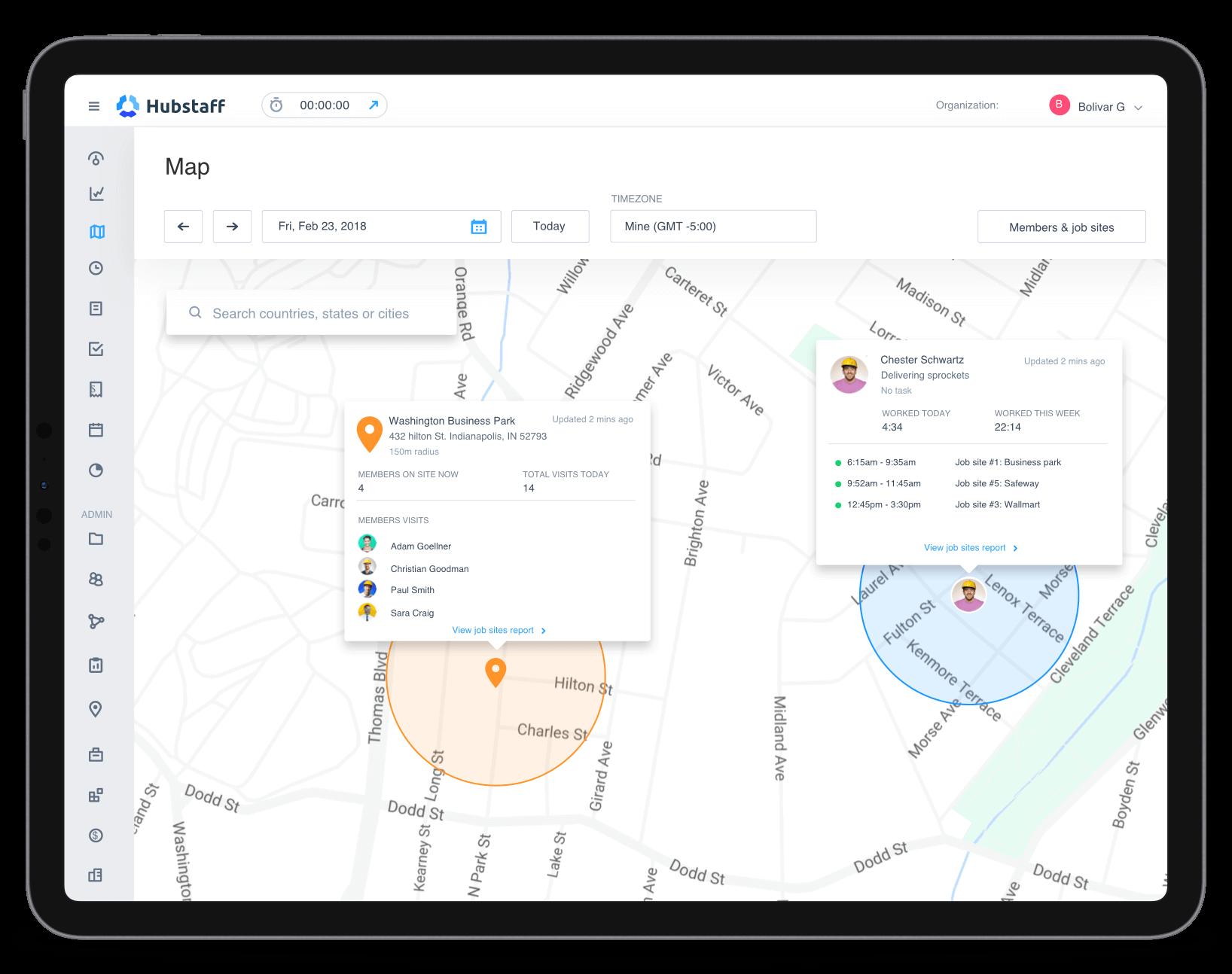 Hubstaff GPS time tracking