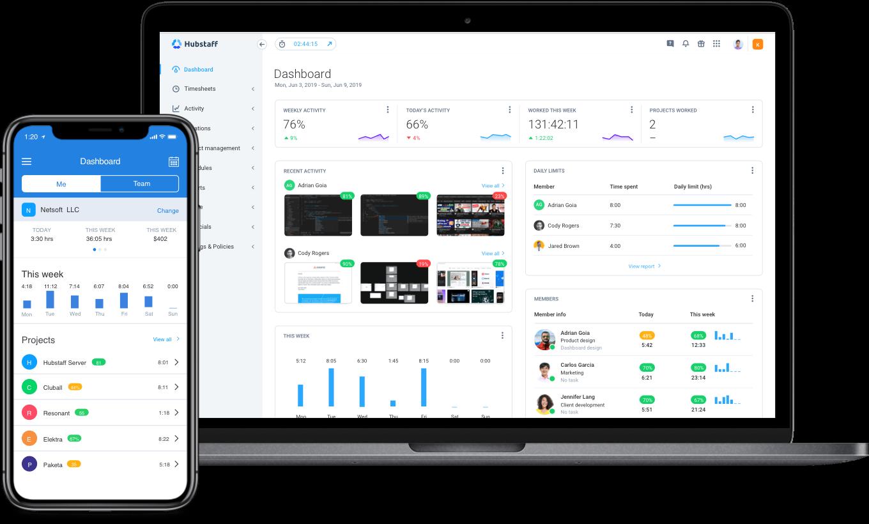 freelance time management software dashboard