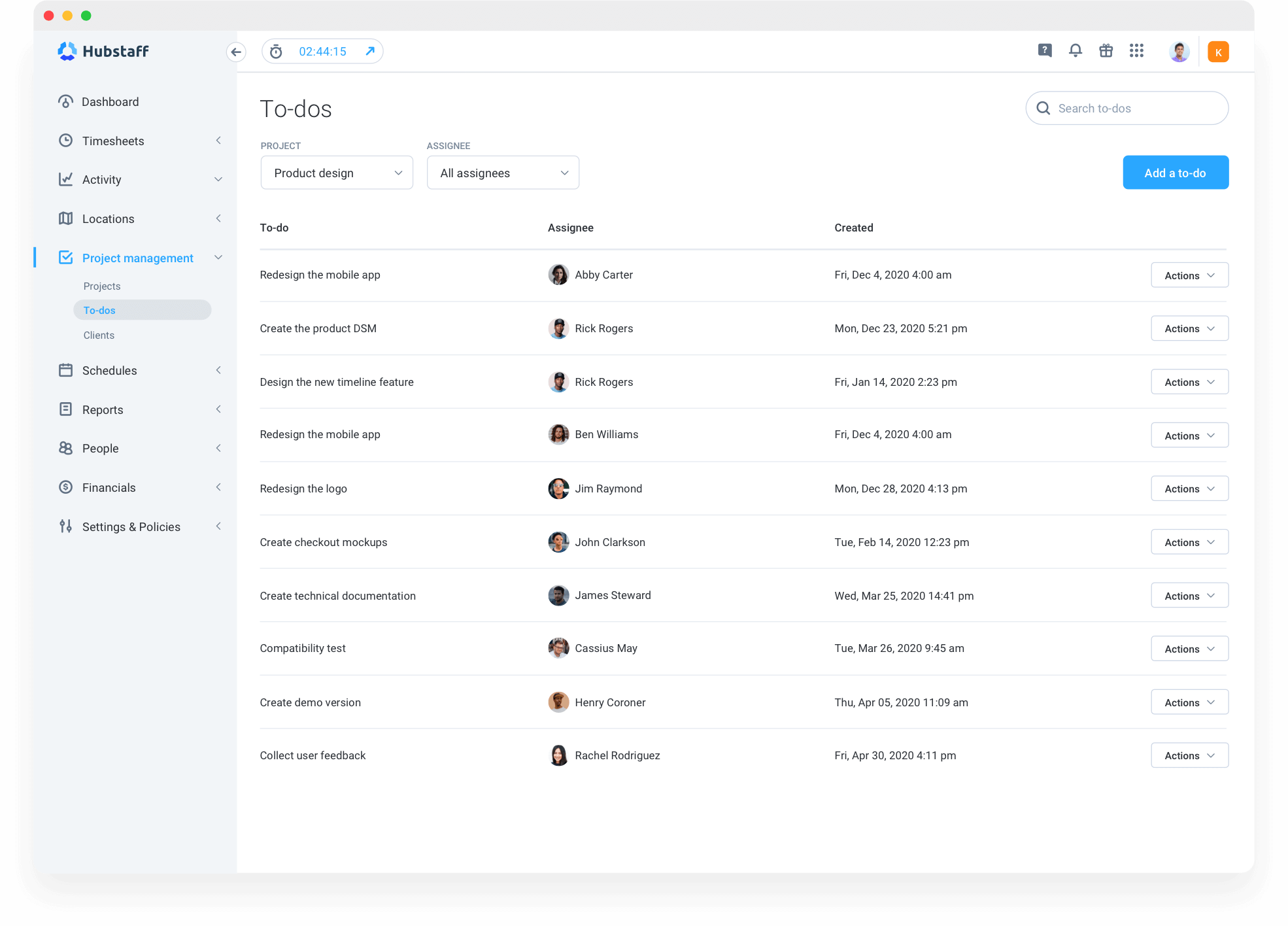 To Do Lists tool to manage your freelancers