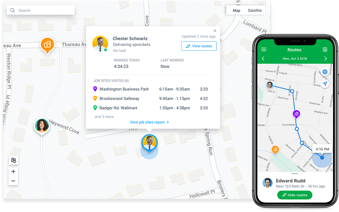 Manage your fleet with a simple GPS app