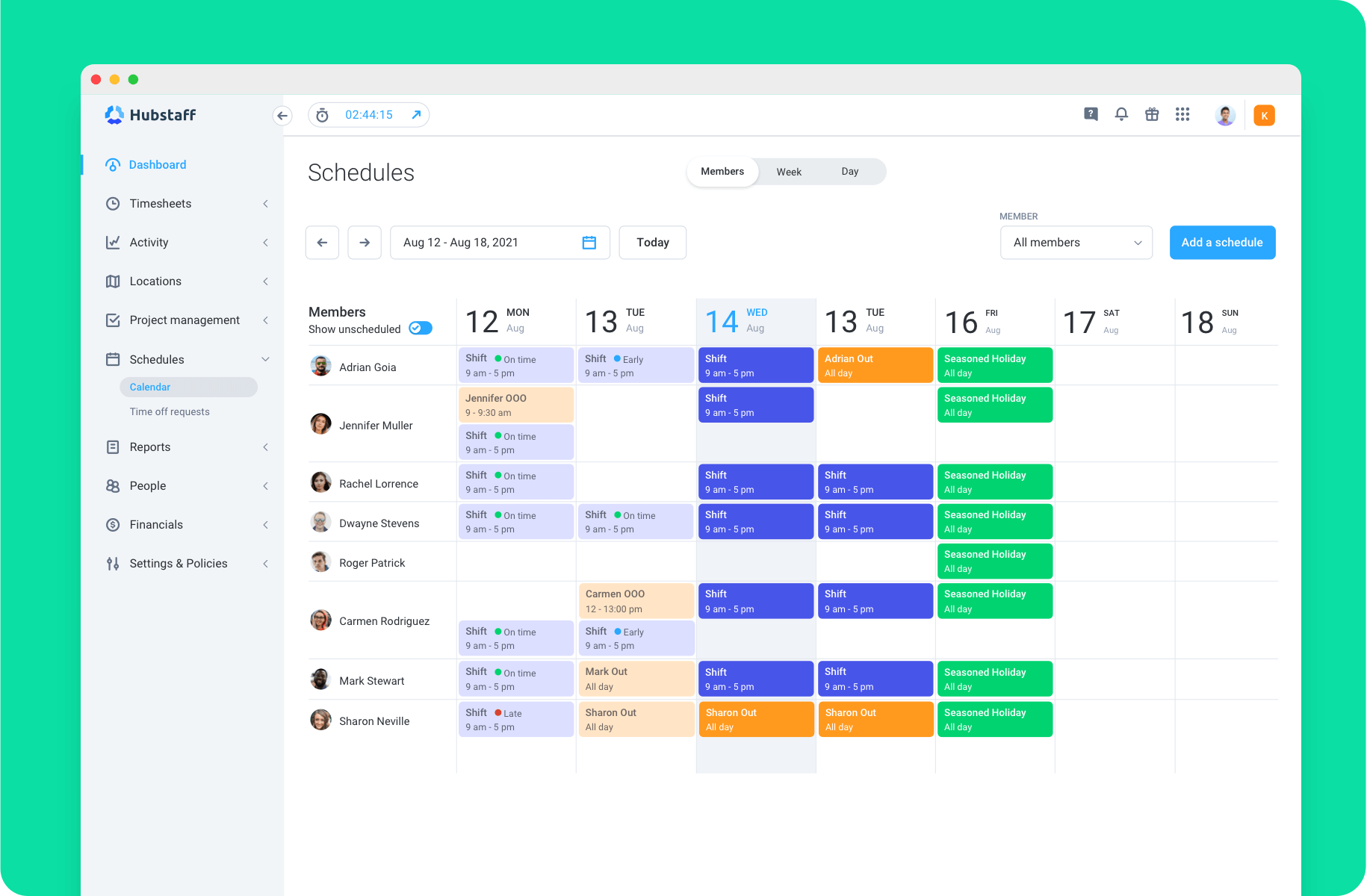 Simple scheduling for manufacturing