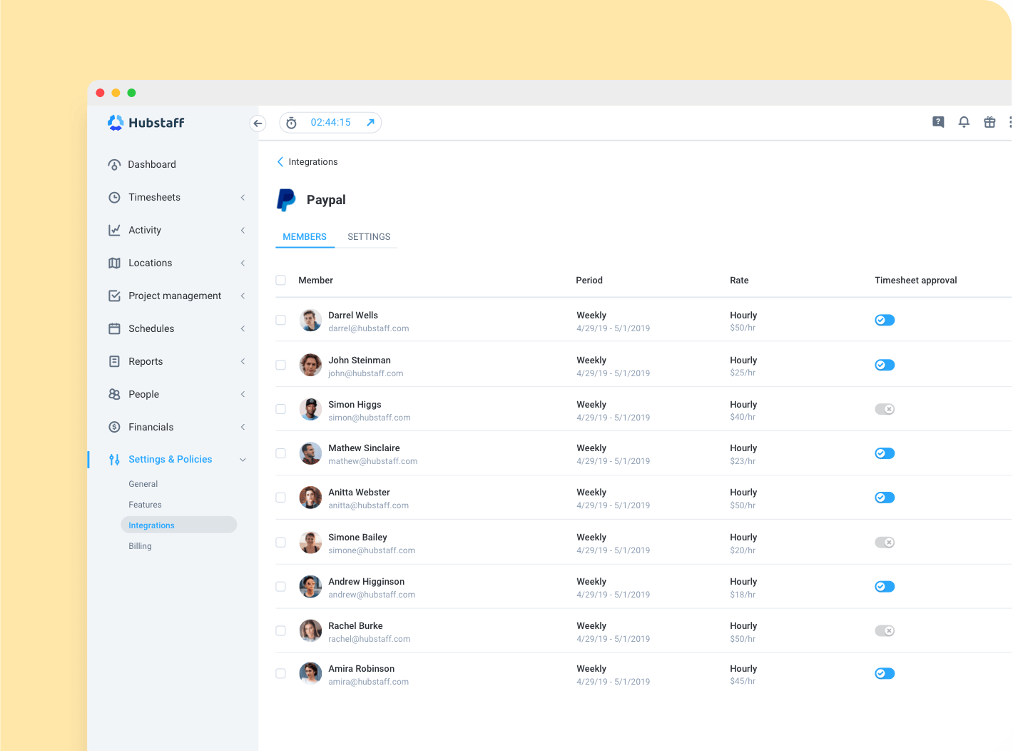 detailed timesheets for construction crews