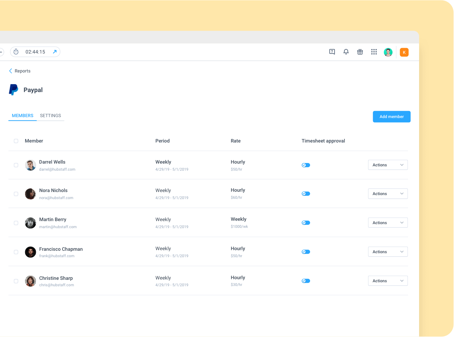 automated timesheets and payroll in Hubstaff Time