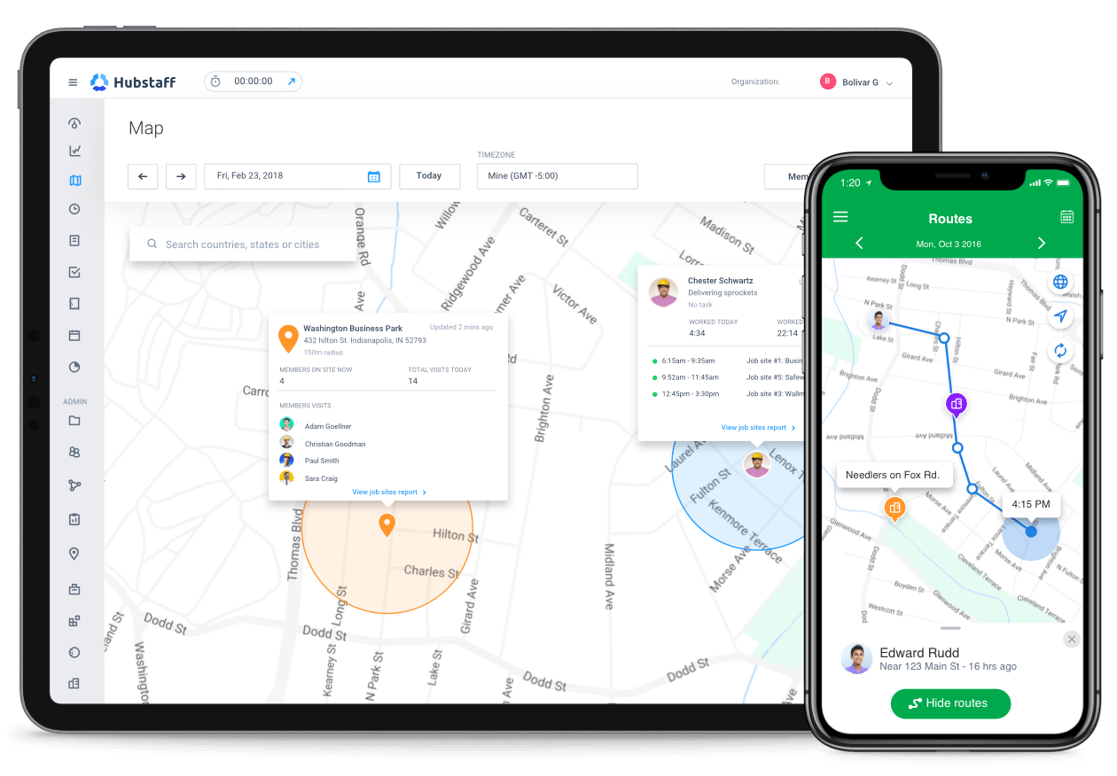gps time tracking features