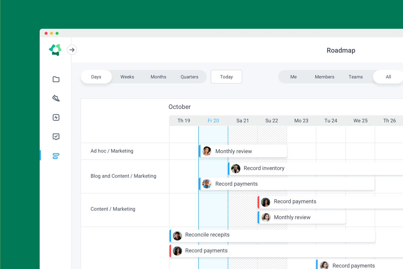 Hubstaff Tasks roadmap feature