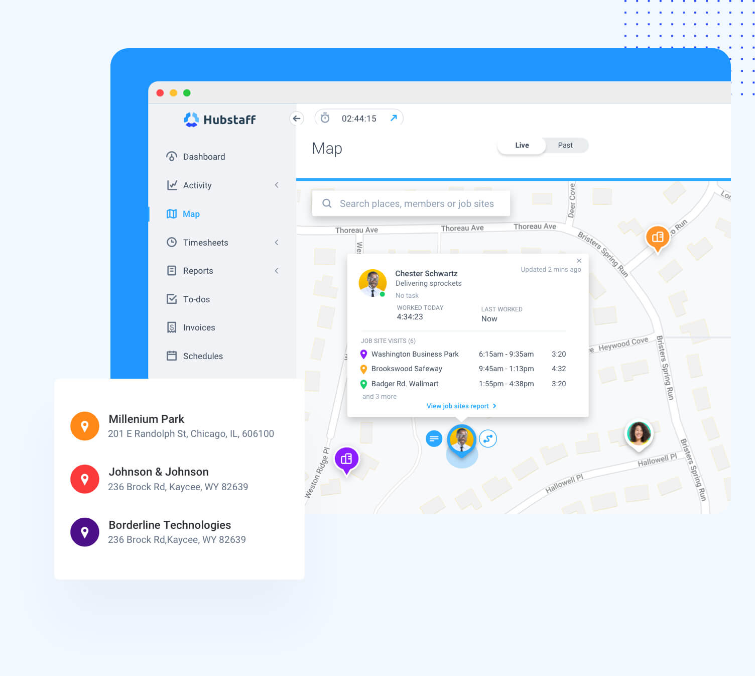 Hubstaff features for field teams