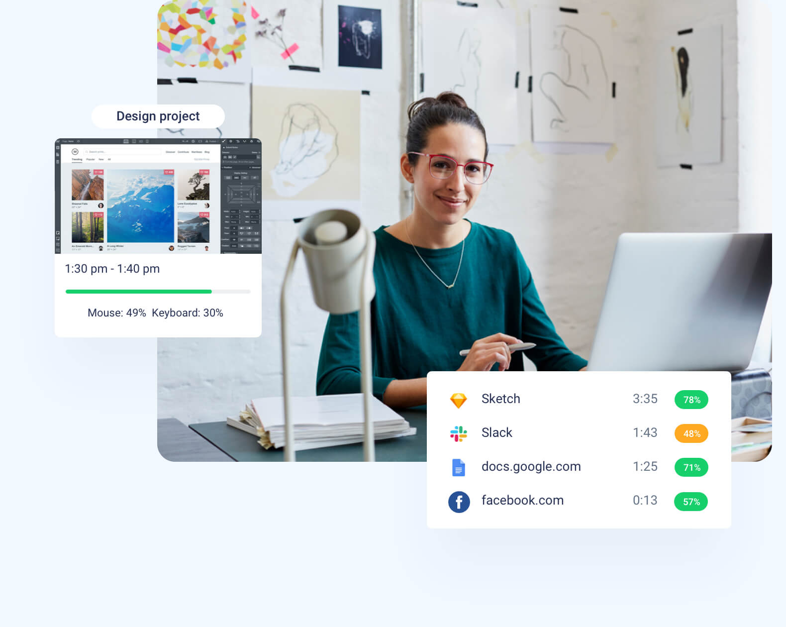 Hubstaff features - productivity