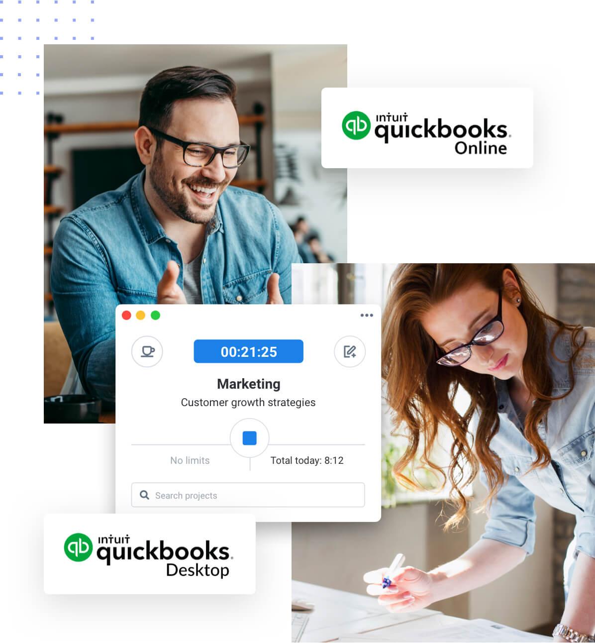 Support for Quickbooks Online and Desktop