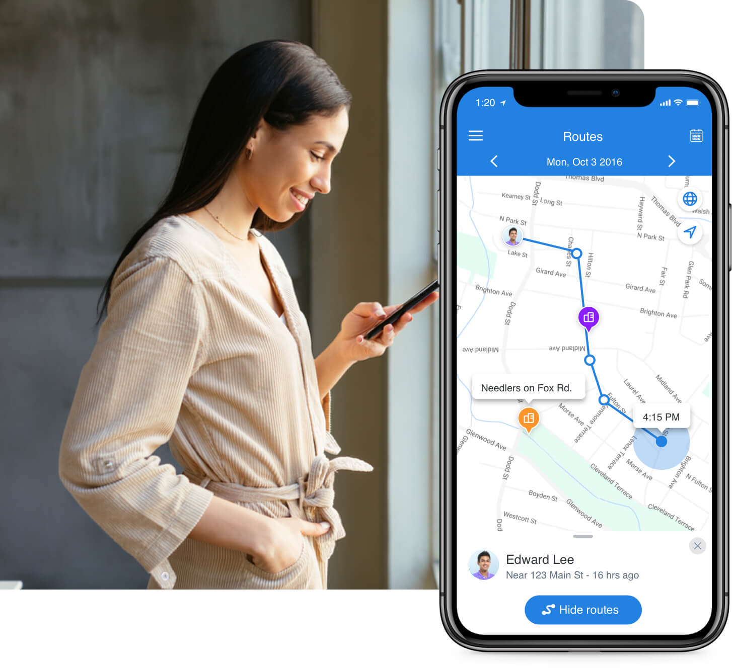 GPS tracking features