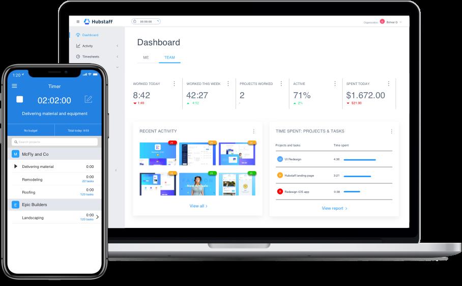 Hubstaff desktop time tracking app