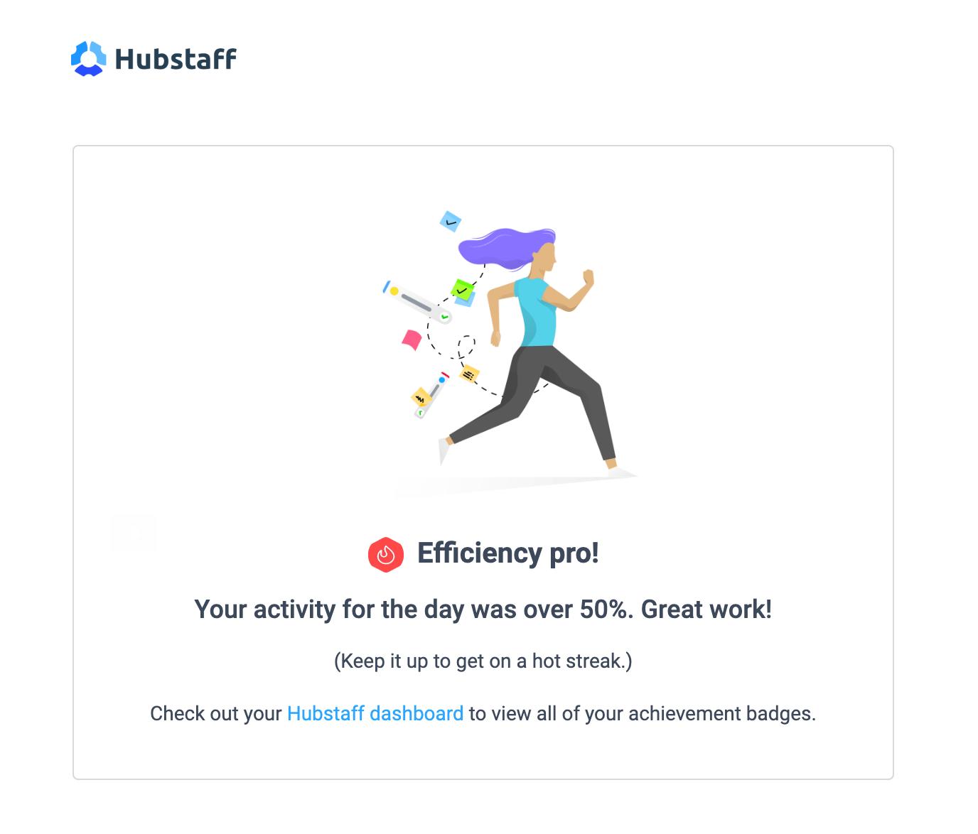 Hubstaff achievement badge