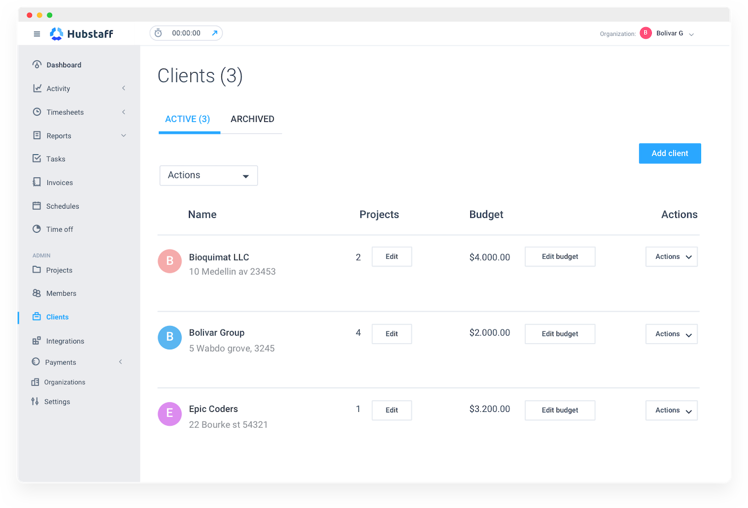 create project budgets