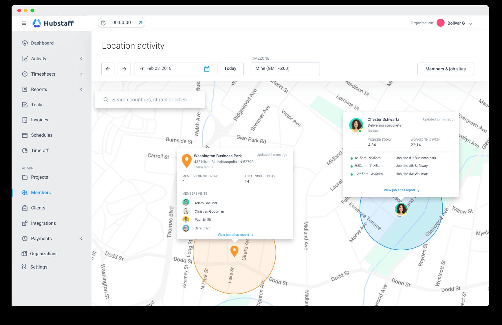 employee location activity report