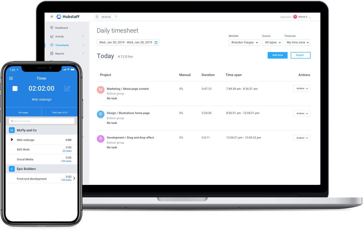 automate timesheets for agencies
