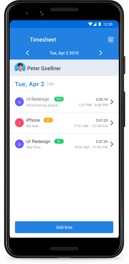 Android timesheets
