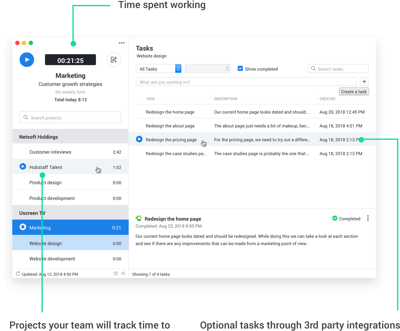 time tracking with automatic payments