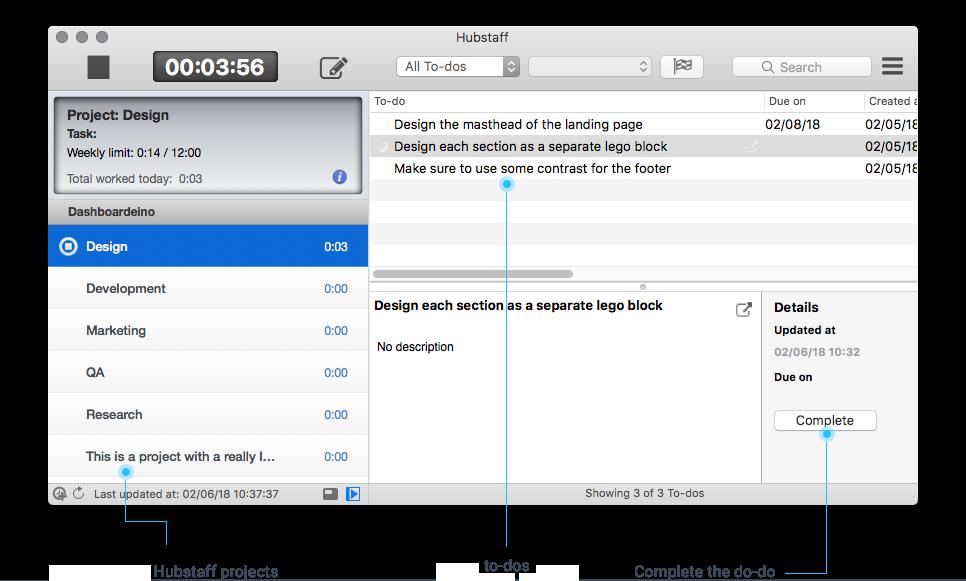Unfuddle desktop timer