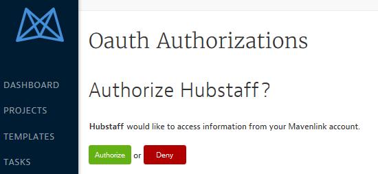 Hubstaff and mavenlink oAuth