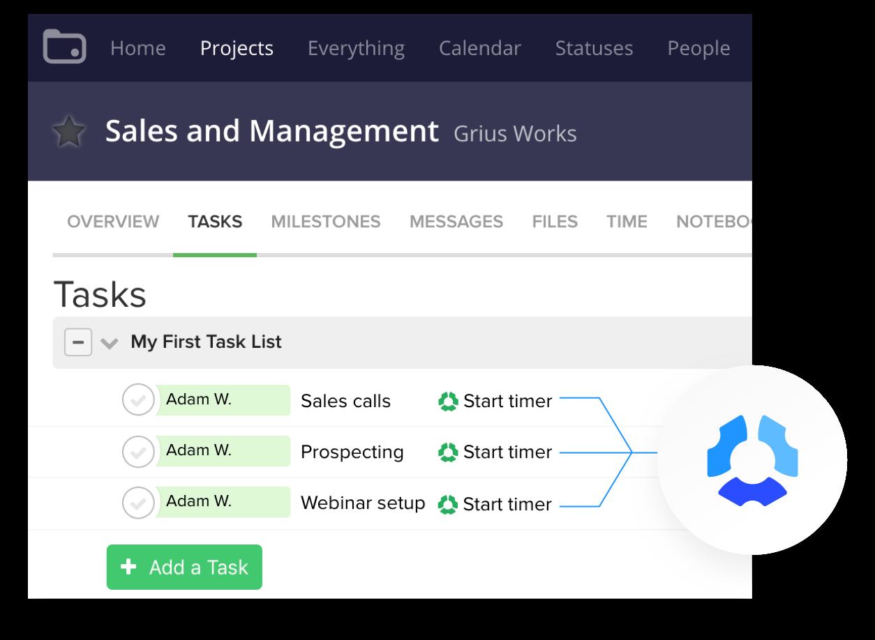 track time to teamwork tasks